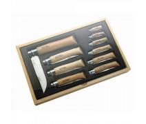 Набор Opinel в деревянной коробке из 10 ножей